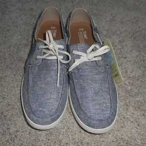 NEW TOMS Culver chambray oxfords shoes men's 13